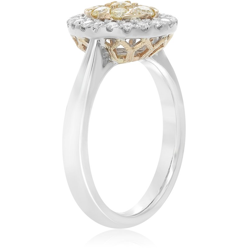 Roman & Jules Oval Diamond Cluster Ring