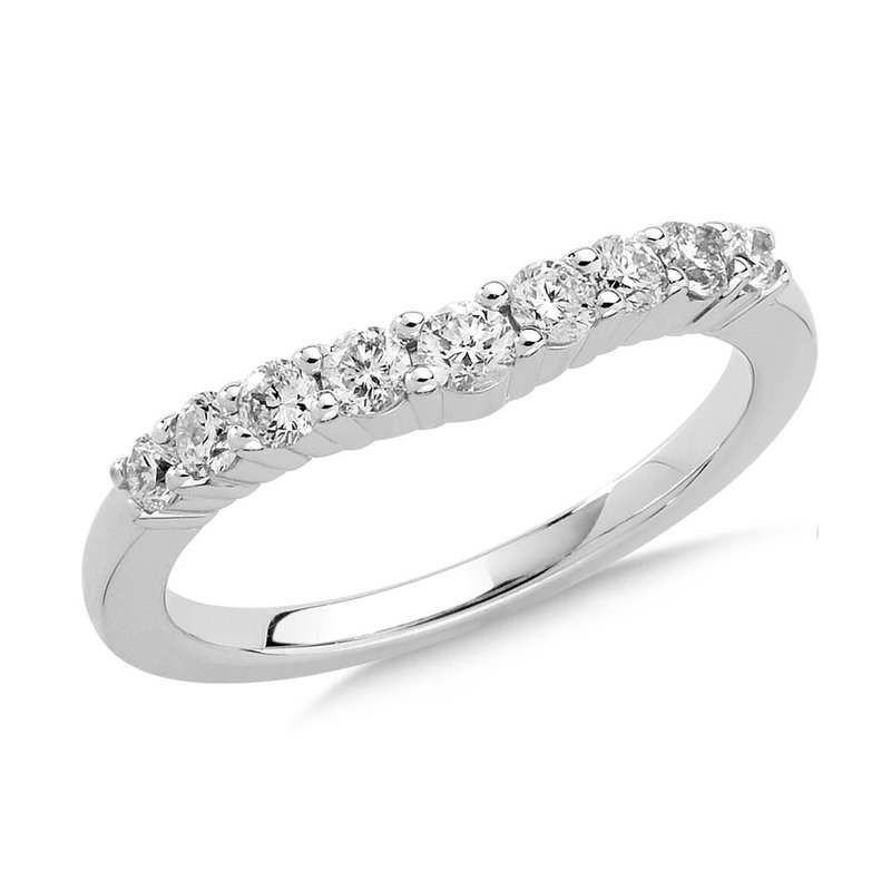 SDC Creations Curved Diamond Wedding Band 14k White Gold (1/2ct. tw.)