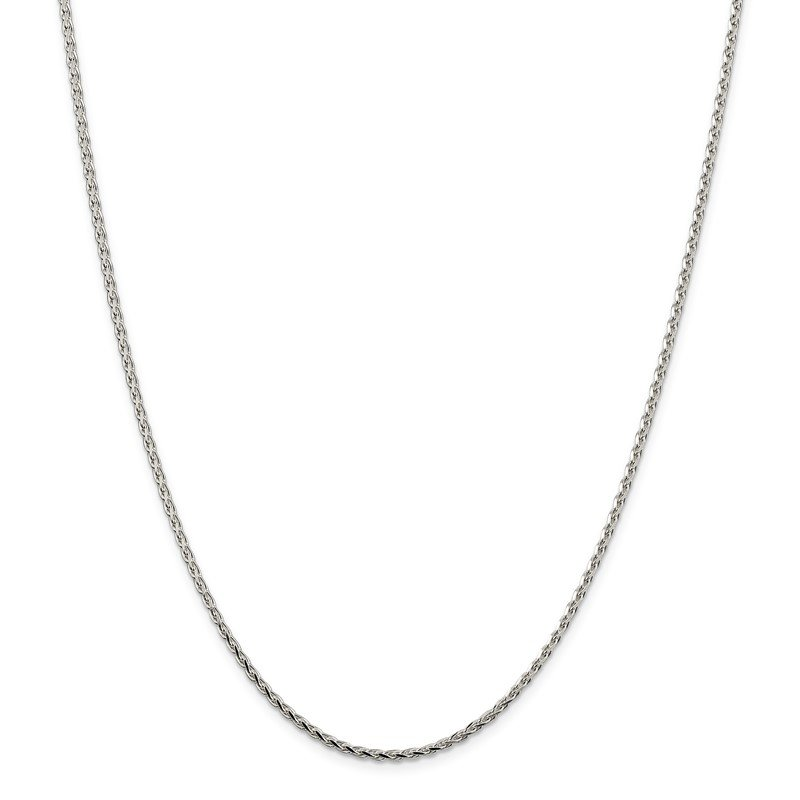 Quality Gold Sterling Silver 2.15mm Diamond-cut Round Spiga Chain
