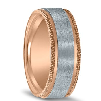 Colors Collection Two-tone Wedding Band NT16707 by Novell