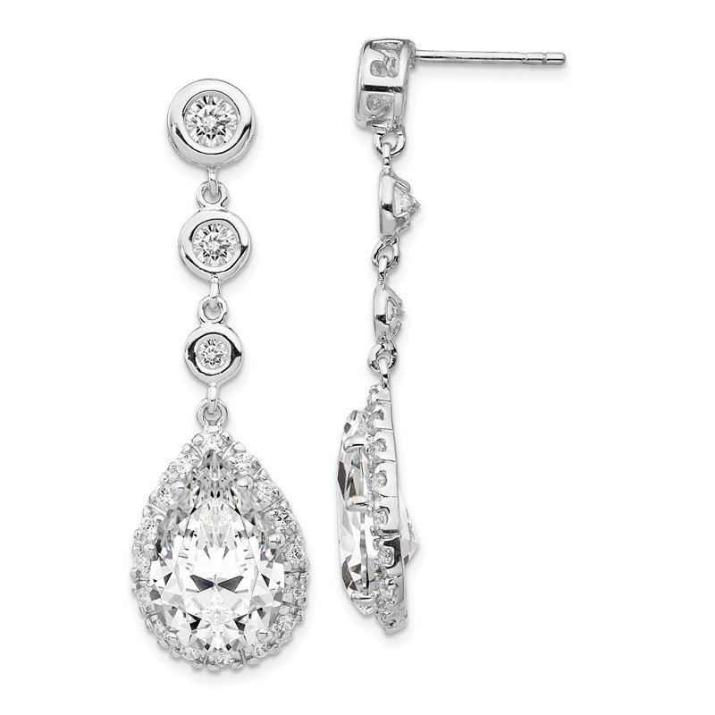 Cheryl M Cheryl M Sterling Silver CZ Dangle Earrings