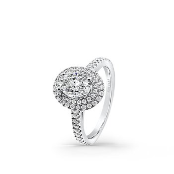 Double Halo Diamond Engagement Ring