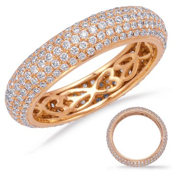 RosGold Eternity Pave Band