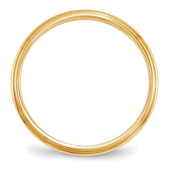 14KY 2.5mm Half Round with Edge Band Size 10
