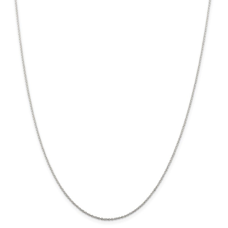 Arizona Diamond Center Collection Sterling Silver 1mm Cable Chain