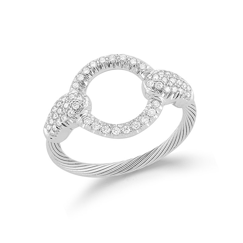 I. Reiss 14K-W WIRE RING 0.40CT