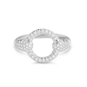 14K-W WIRE RING 0.40CT