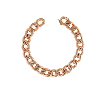 18KT ROSE GOLD CURB LINK BRACELET