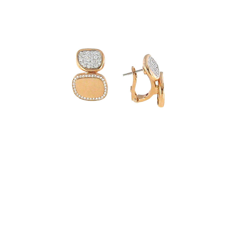 Roberto Coin 18KT GOLD EARRING WITH DIAMONDS