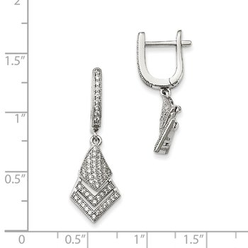 Sterling Silver CZ Brilliant Embers Earrings
