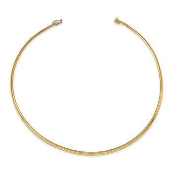 14k 3mm Domed Omega Necklace