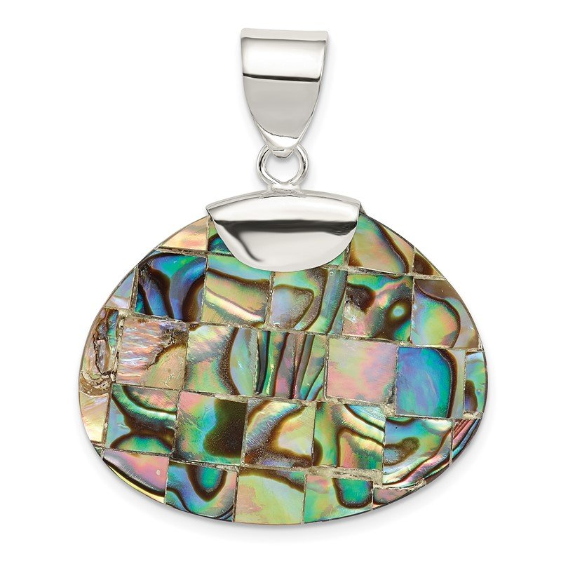 Quality Gold Sterling Silver Shell Pendant