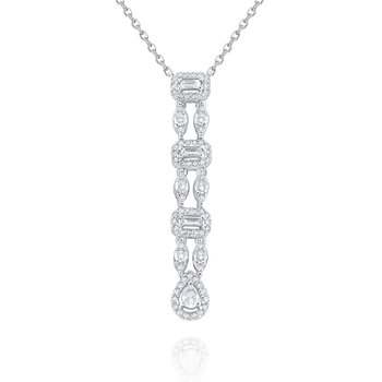 14k Linear Mosaic Diamond Necklace
