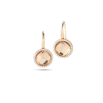 Earrings With Diamonds And Crystal
