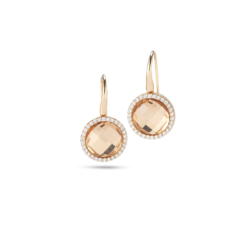 Roberto Coin Earrings With Diamonds And Crystal