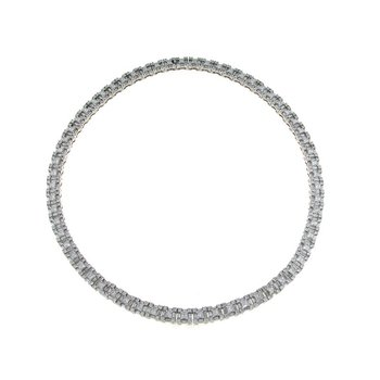 18Kt Gold Princess Baguette Cut Diamond Collar