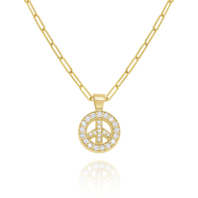KC Designs 14k Gold and Diamond Peace Necklace