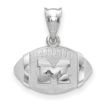 Sterling Silver University Of Michigan NCAA Pendant