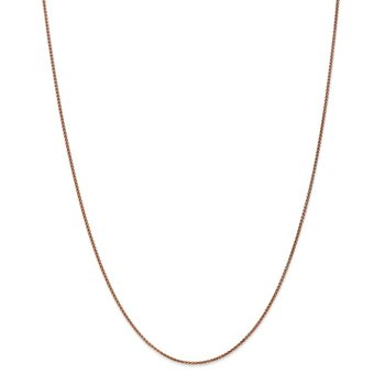 Leslie's 14K Rose Gold 1.2mm Spiga (Wheat) Chain