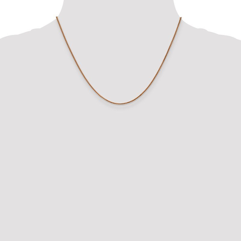 Leslie's Leslie's 14K Rose Gold 1.2mm Spiga (Wheat) Chain