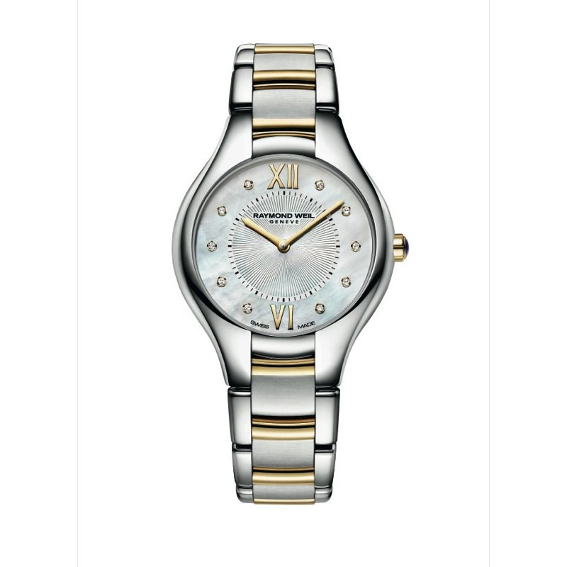 Raymond Weil Ladies Quartz Watch, 32 mm Two-tone 10 diamonds