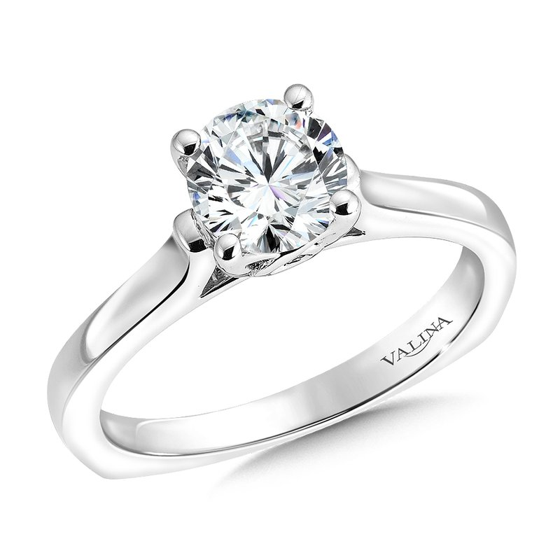 Valina Bridals Solitaire mounting .04 tw., 1 ct. round center.