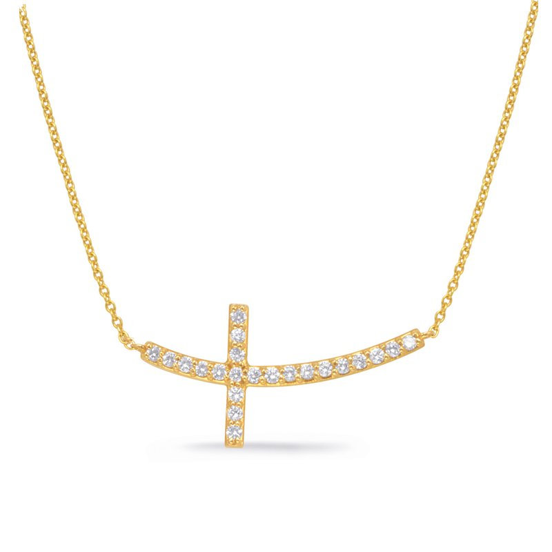 S. Kashi  & Sons Yellow Gold Cross Necklace