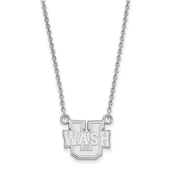 Sterling Silver Washington University in St. Louis NCAA Necklace