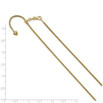 Leslie's 14K Adjustable 1.5mm Wheat Chain