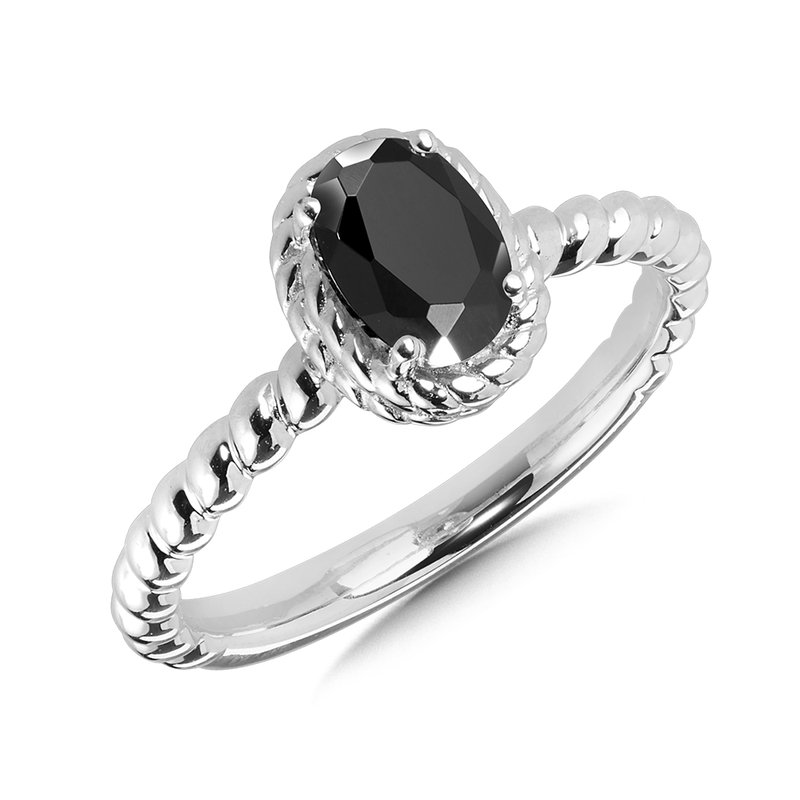 Onyx Ring in Sterling Silver