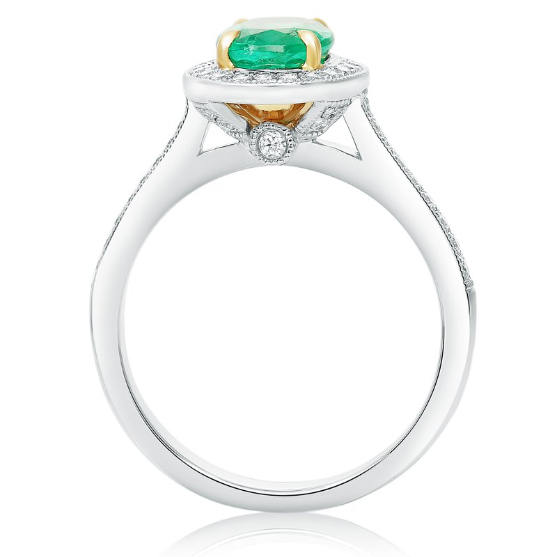 Roman & Jules Oval Emerald & Diamond Ring