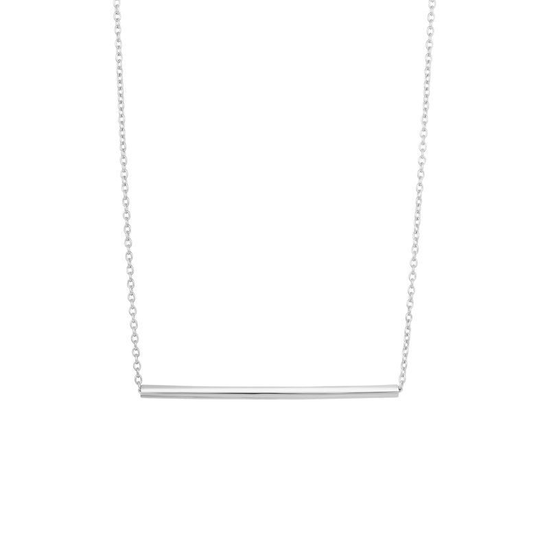 Royal Chain Silver Round Bar Necklace