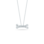 Roberto Coin Dogbone Pendant With Diamonds