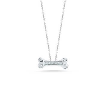 Dogbone Pendant With Diamonds