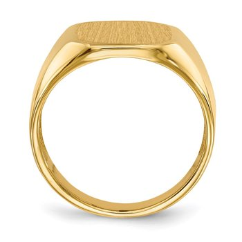 14k 15.5x13.0mm Open Back Mens Signet Ring