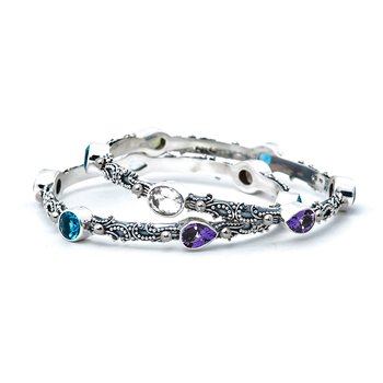 Kirsten Mixed Stone Bangle