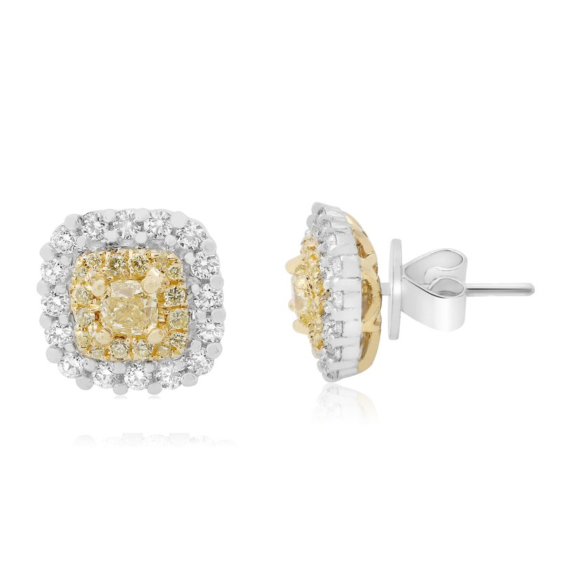 Roman & Jules Double Halo Diamond Earrings