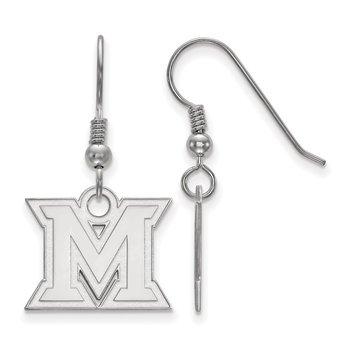 Sterling Silver Miami University NCAA Earrings