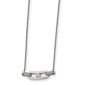 Sterling Silver CZ 16in Necklace