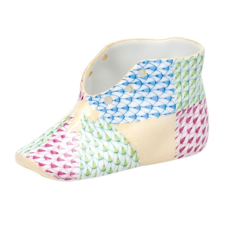 Herend Baby Shoe - Multicolor