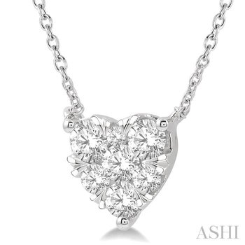 heart shape lovebright essential diamond necklace