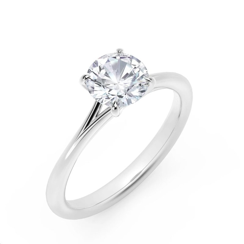 Icon Setting Solitaire Round Diamond Engagement Ring