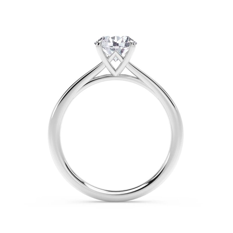 Forevermark Black Label Icon Setting Solitaire Round Diamond Engagement Ring