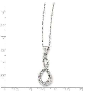 Sterling Silver Diamond Mystique Figure 8 18in Necklace