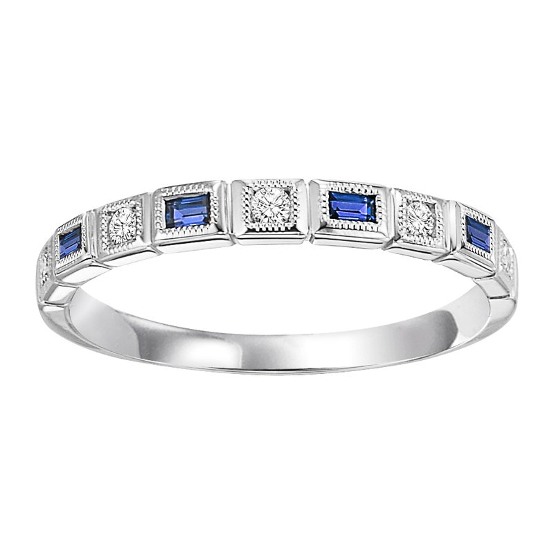 Mixables 10K Sapphire & Diamond Mixable Ring