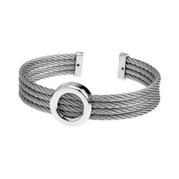 Steel Bangle with Circle