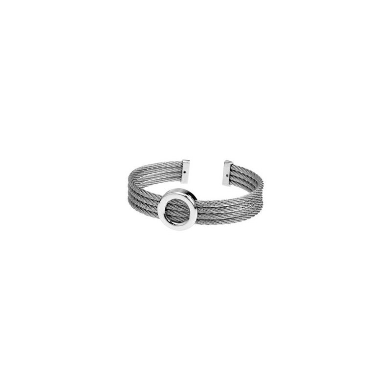 LARUS Jewelry Steel Bangle with Circle