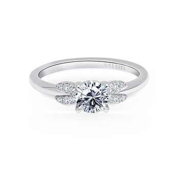 Floral Classic Diamond Engagement Ring
