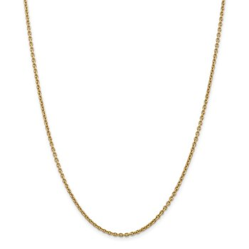 14k 2.2mm Forzantine Cable Chain Anklet