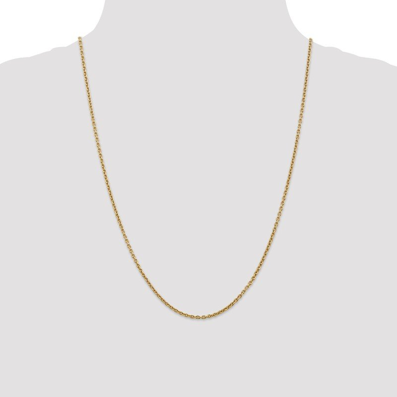 Quality Gold 14k 2.2mm Forzantine Cable Chain Anklet